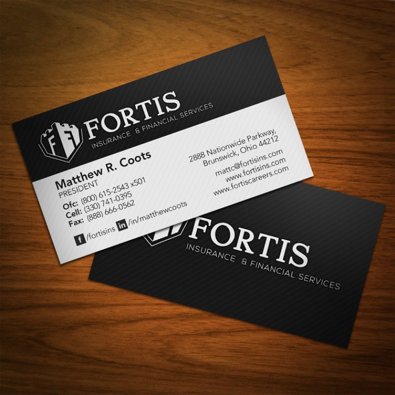 Fortis standard business cards colourmoves