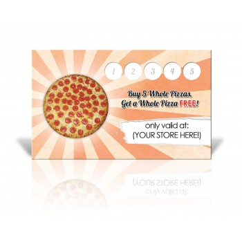 WHOLE PIZZA - Buy 5 Get 1